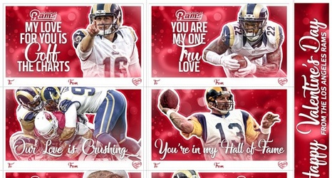 Rams Valentines Day Cards – Sports Valentines Cards
