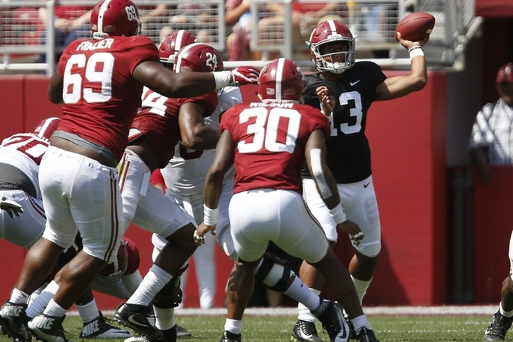 QB controversy in Tuscaloosa? Freshman Tua Tagovailoa impresses at Alabama spring game