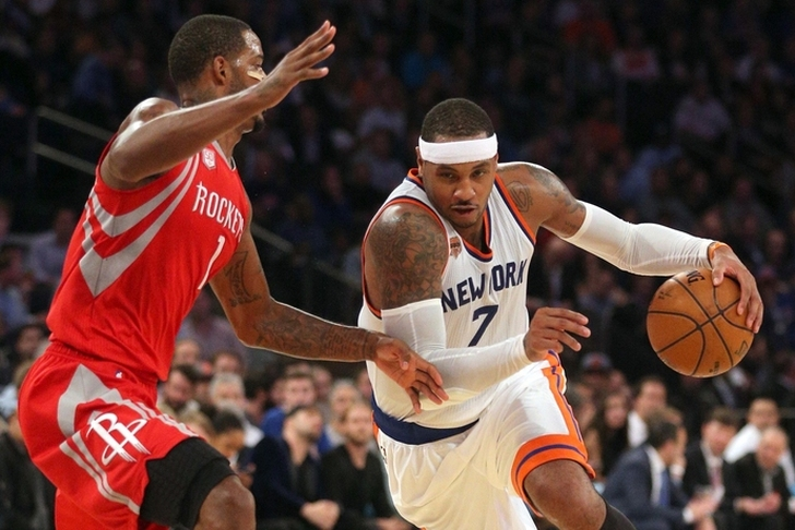 Rockets re-engage Knicks on Carmelo Anthony