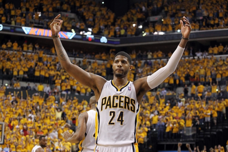 Image result for paul george screaming