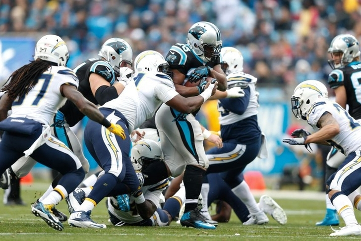 Panthers force 5 turnovers, beat Chargers 28-16