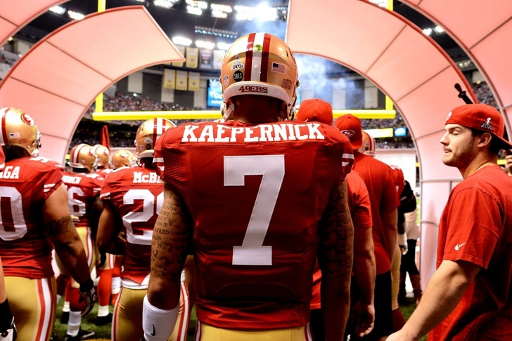 2015 San Francisco 49ers #7 Colin Kaepernick Stitched Hooded Sweatshirt Red