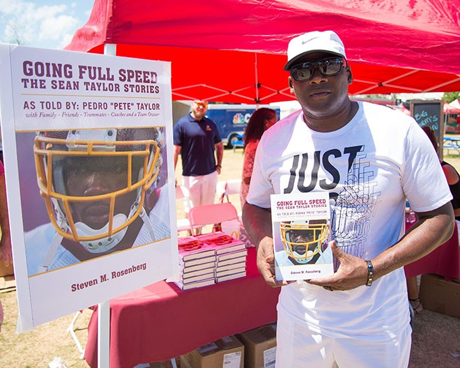 8dad82911 Pedro Taylor Visits #SkinsCamp With Copies Of