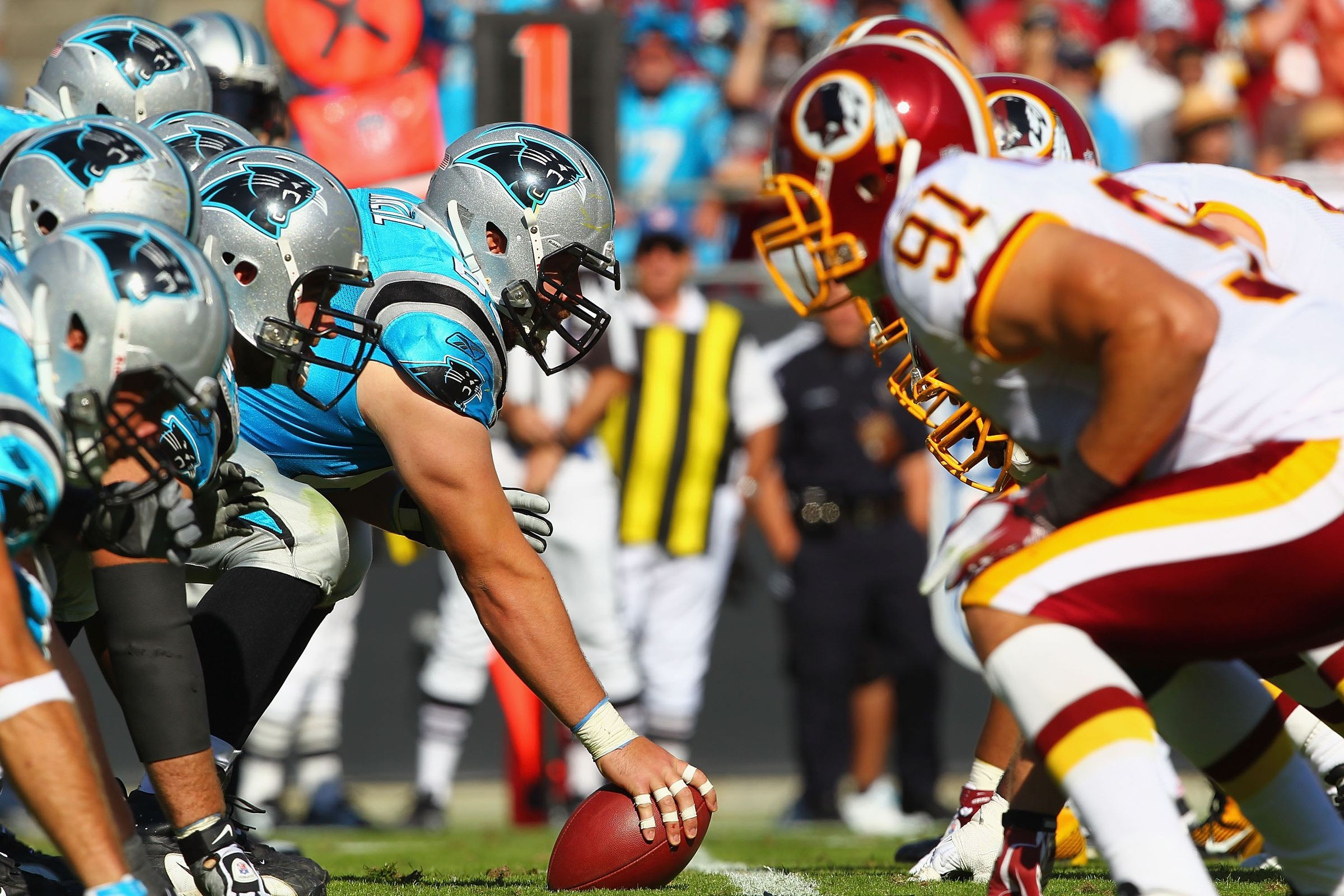 Find tickets from 82 dollars to Carolina Panthers at Washington Redskins on Sunday October 14 at 100 pm at FedEx Field in Landover MD