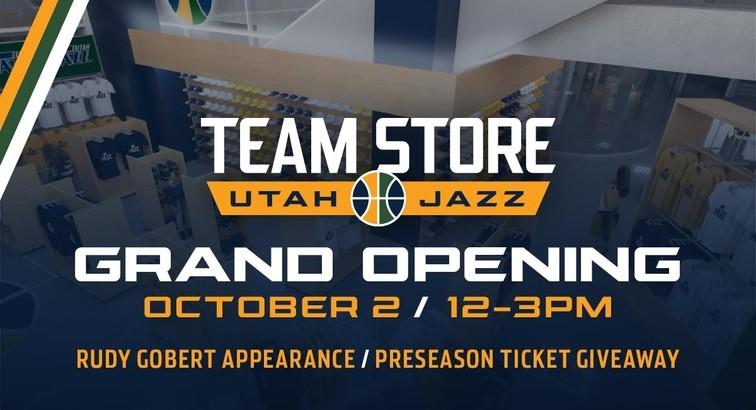 newest 133e7 426f1 Grand Opening of Utah Jazz Team Store on Oct. 2
