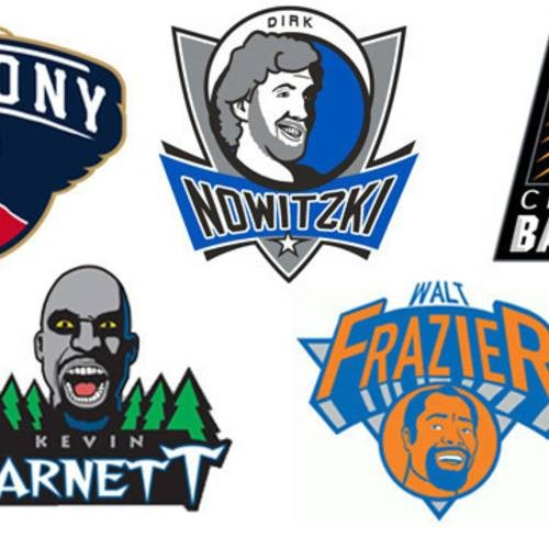 Redesigning Every NBA Logo As Each Teams All Time Best Player