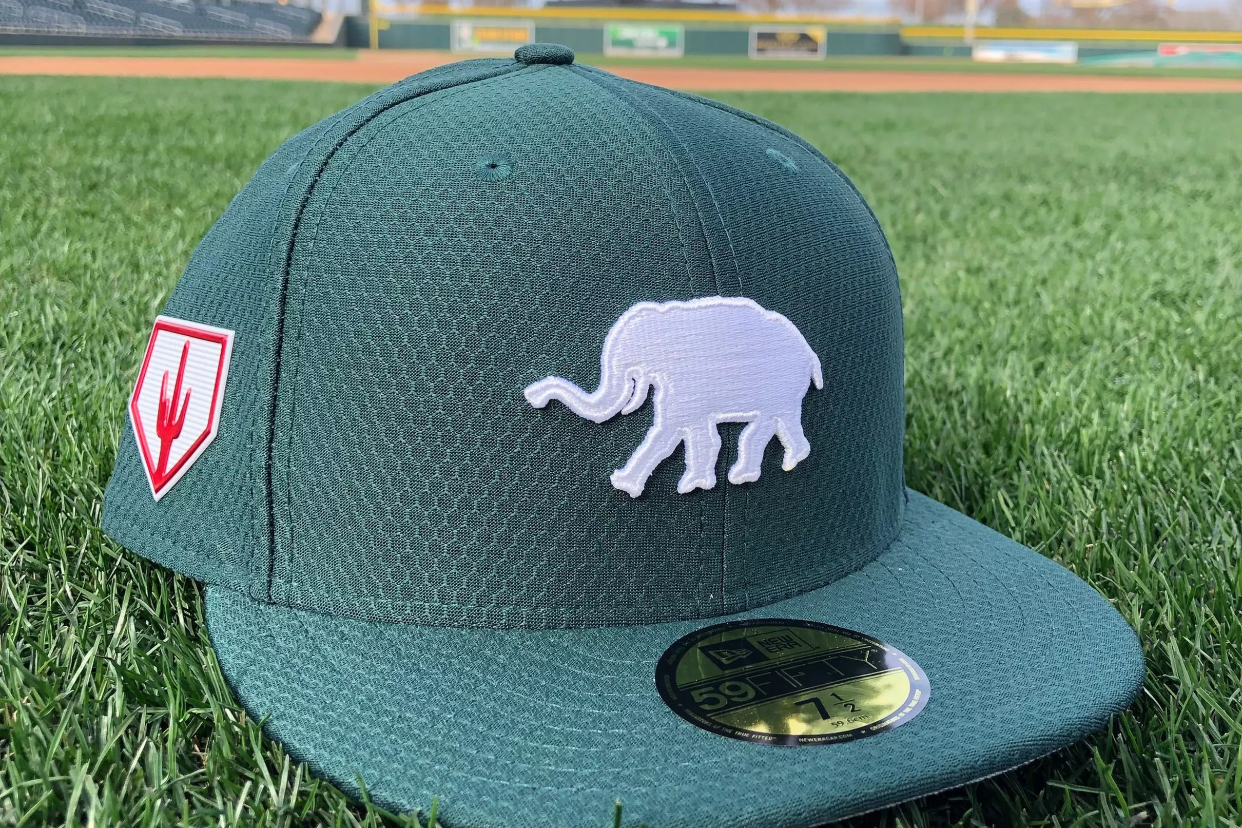 f7a9f503 Oakland A's unveil 2019 spring training cap design