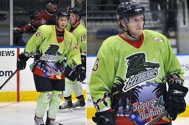 96947af98e1 Rockford IceHogs wear incredible ugly Christmas sweater jerseys