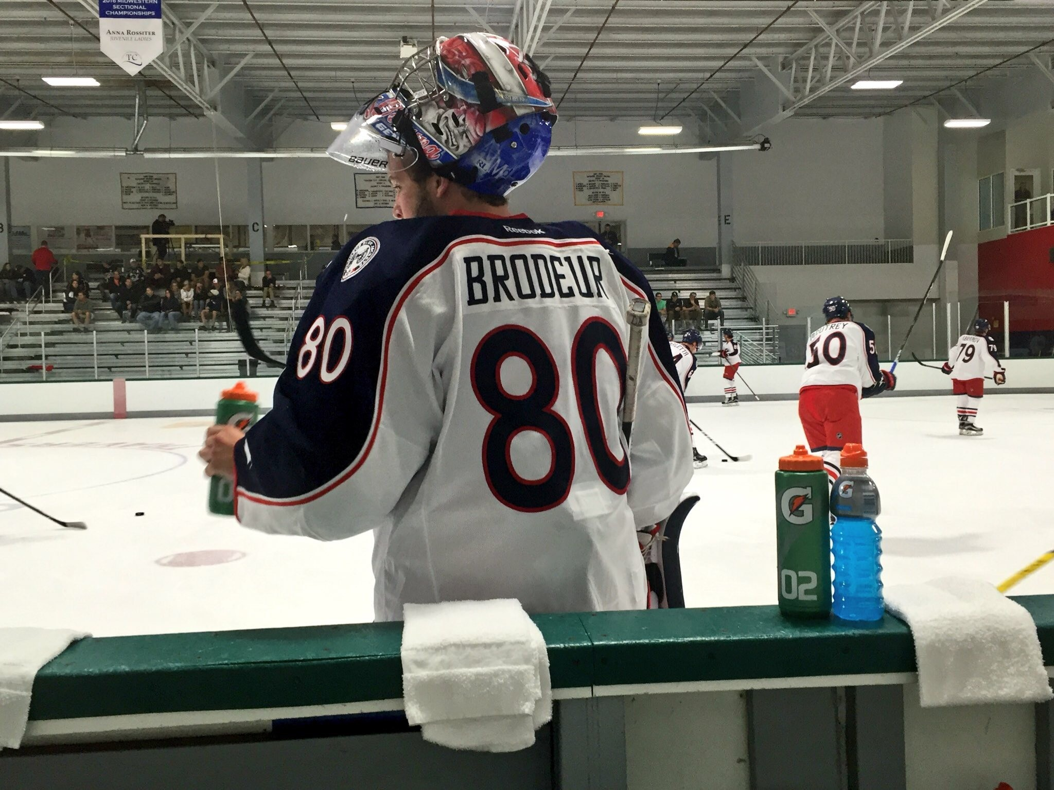 Martin Brodeur Gets To Watch His Son Jeremy Play For Blue Jackets