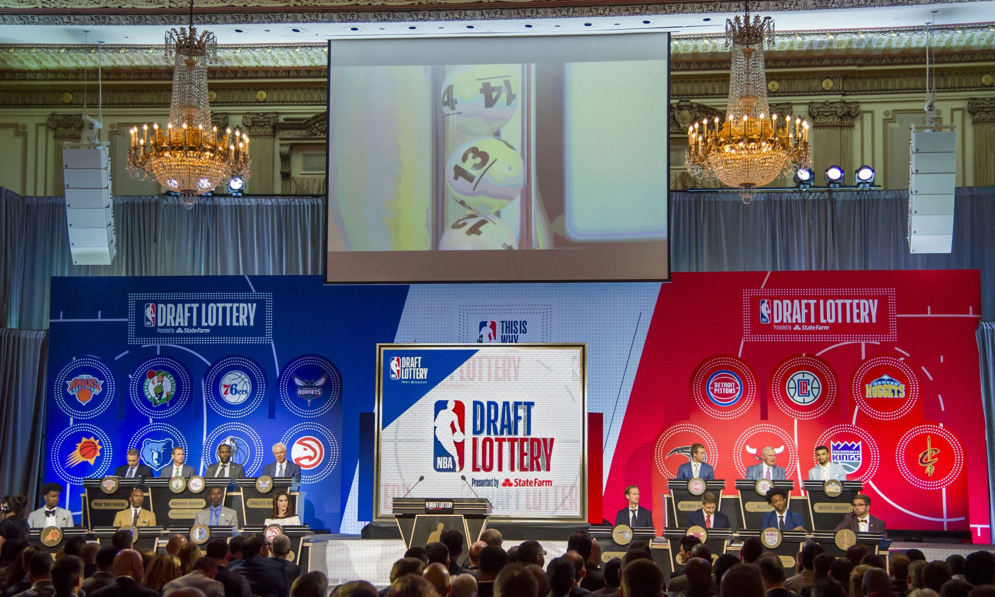 nba draft lottery drawing exactly as it happened