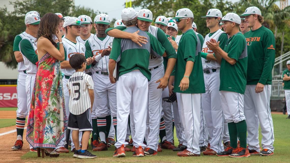 Um Baseball Coach Jim Morris Career At Home Ends In A Rainout At Mark Light Field Miami Herald