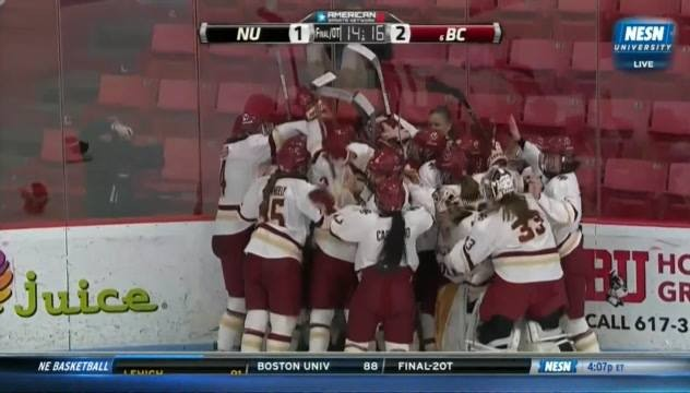 BC Women's Hockey's Overtime Win In The Hockey East