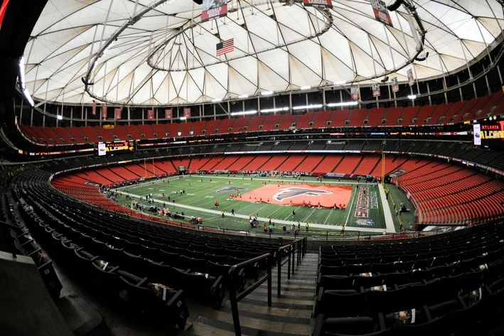 Mercedes benz purchases naming rights to new falcons for Mercedes benz dome atlanta