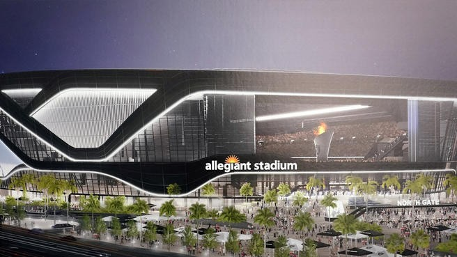 Raiders Allegiant Stadium Moves Forward With First Grass
