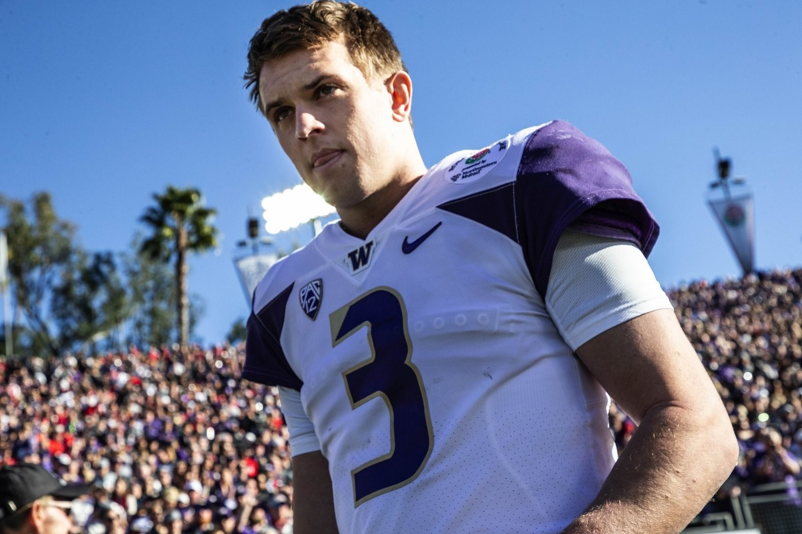 online retailer 9a7d7 4e1a9 UW QB Jake Browning eager to show improved arm strength to ...
