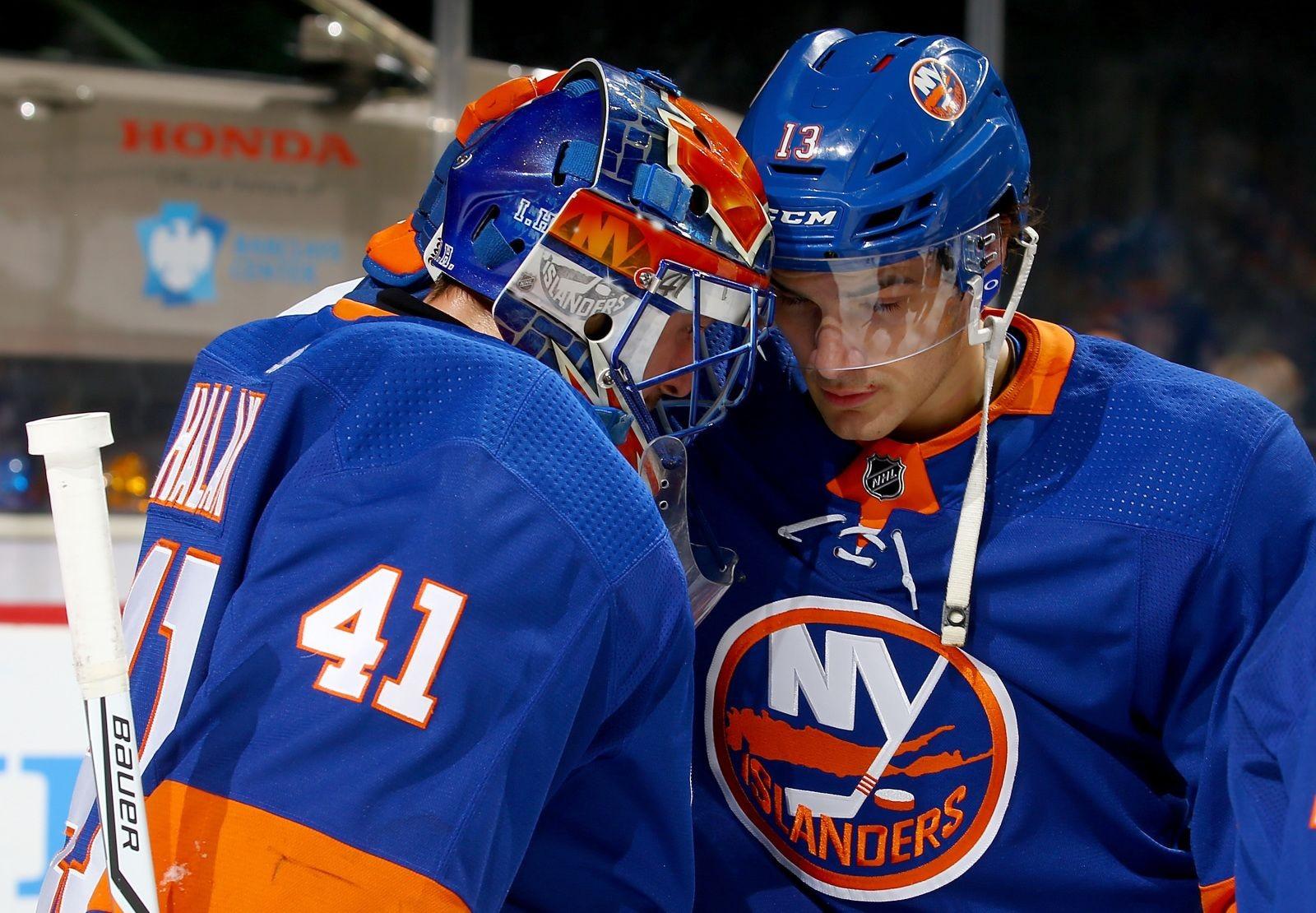 buy online fbea1 82bf8 New York Islanders Jaroslav Halak 2017-2018 Season Grade