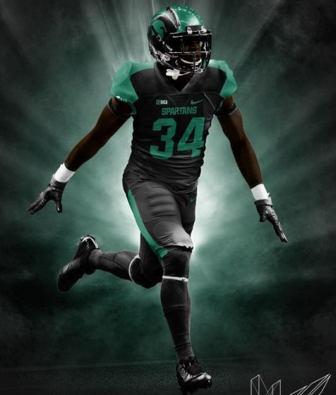 Michigan State Football: Check out this slick all-black uniform idea