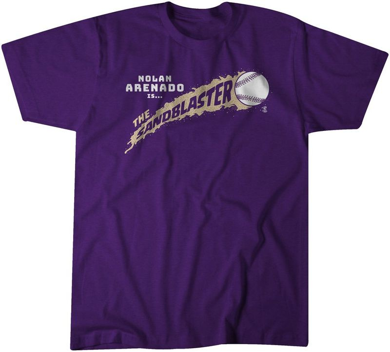 Nolan Arenado 'Sandblaster' T-shirt Now Available