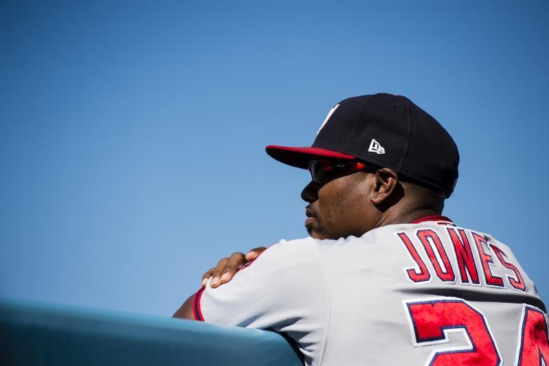 Nationals assistant hitting coach Jacque Jones suspended