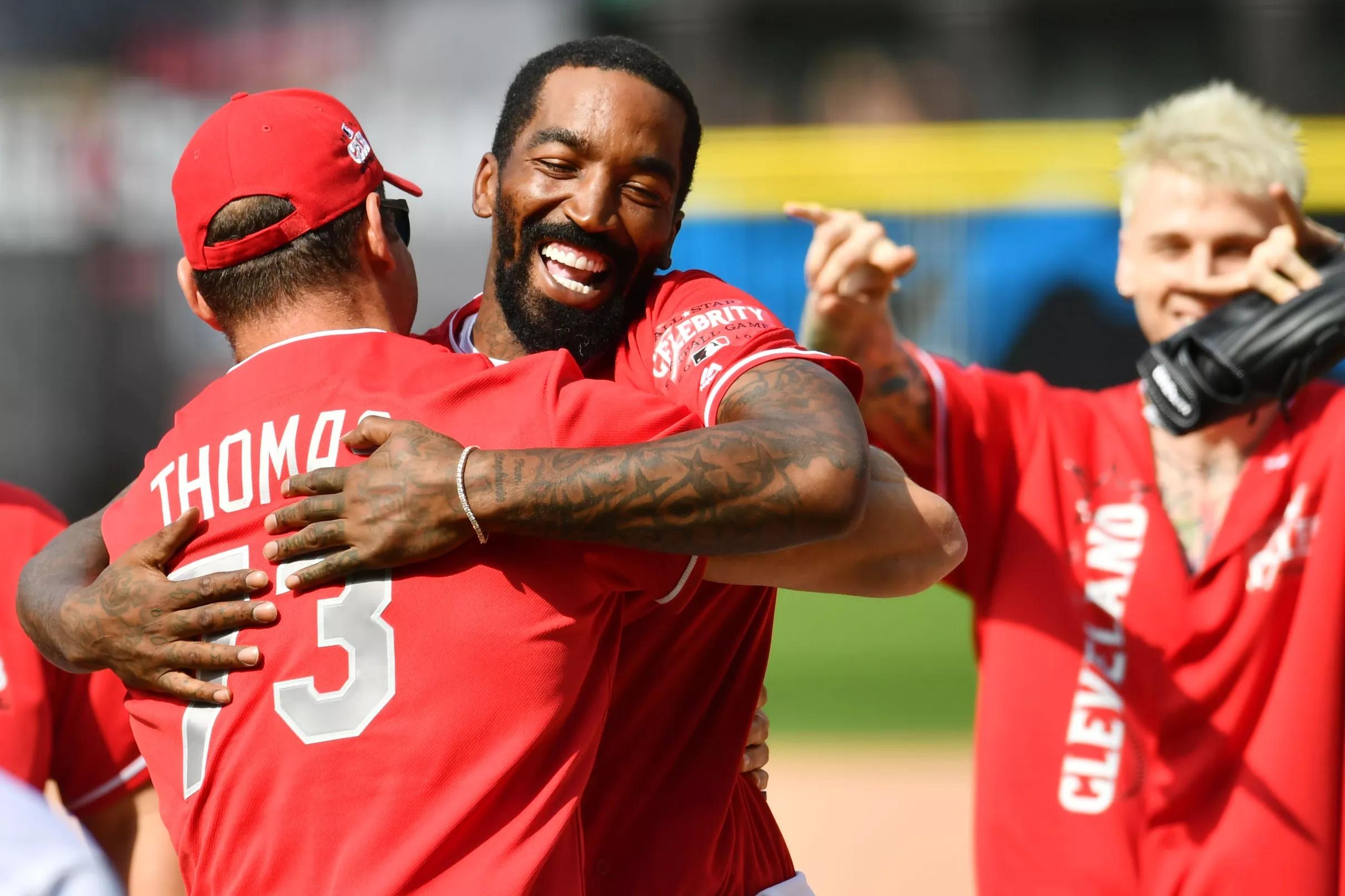 Former Browns LT Joe Thomas participates in MLB Celebrity ...