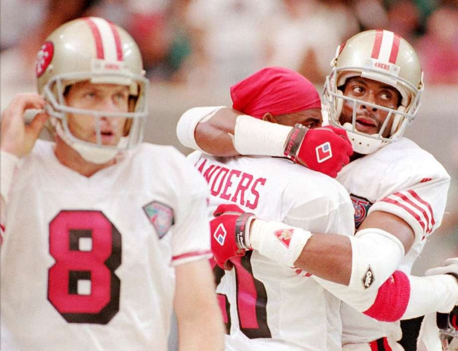 c55902e6b Jerry Rice parties like it s 1994 as 49ers unveil throwback uniforms