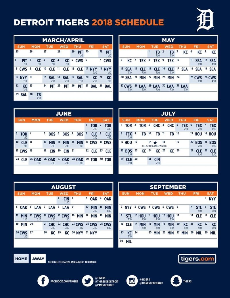 Sly image pertaining to printable detroit tigers schedule