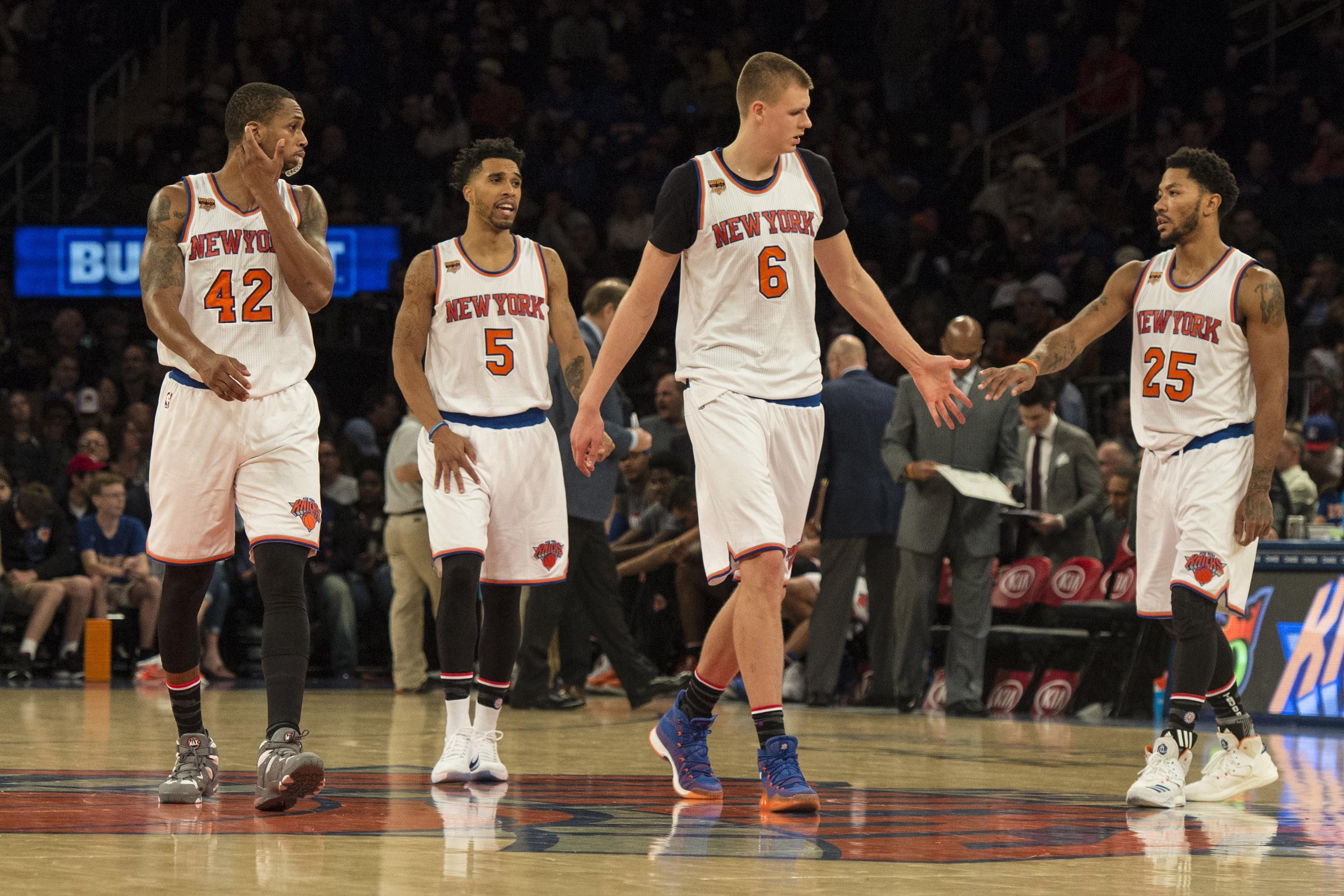 half off a8007 edfa2 New York Knicks: Kristaps Porzingis, Derrick Rose Rank Top ...