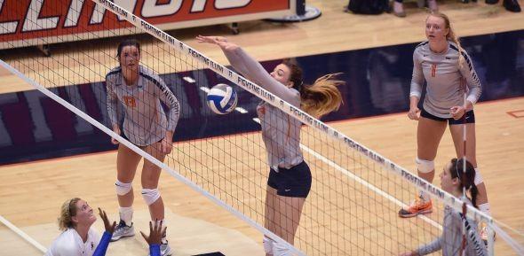 Volleyball: Illini Drop Season Finale to Wolverines