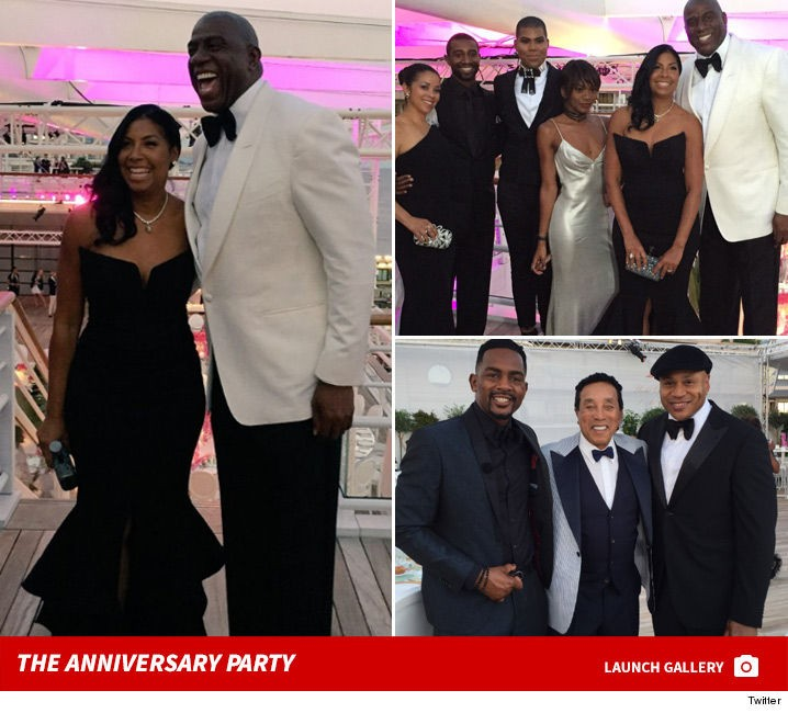 Kansas Weekend Couples Getaway: Magic & Cookie Johnson -- Star-Studded Anniversary Party