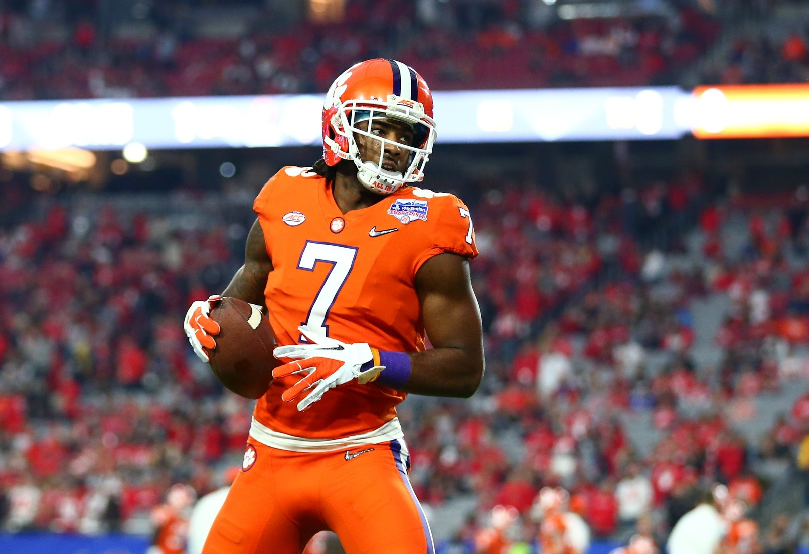 best authentic 280b7 4b733 Clemson WR Mike Williams Visiting With Browns