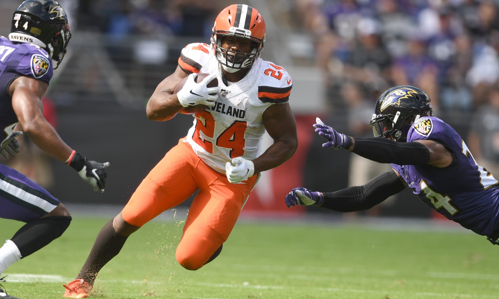 of Nick Browns AFC Week Offensive Player the wins RB Chubb