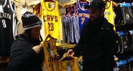 ee34f8c0f0c9 LeBron James  jersey a huge seller at NBA Store