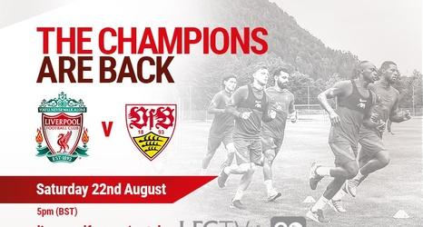 Saturday 4 30pm Bst Watch Liverpool V Vfb Stuttgart Live