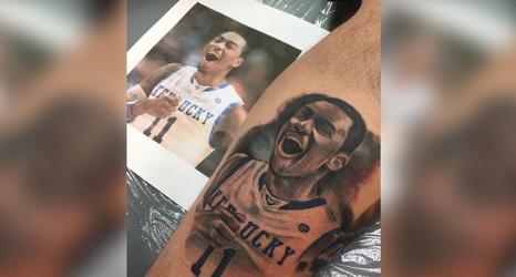 Uk fan adds john wall tattoo next to his tyler ulis tattoo for John wall tattoo