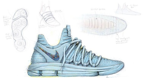 f8f6ca3fb64b Kevin Durant debuts his new signature sneakers in Game 1 vs. Spurs