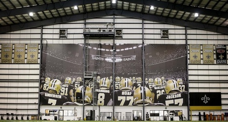 New Orleans Saints honor past stars with banner in indoor