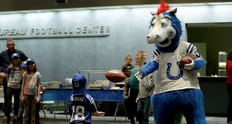 & Colts mascot found who he wants to be wearing a horse costume