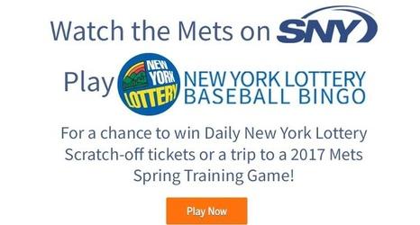 Play New York Lottery Baseball Bingo to win prizes all season long