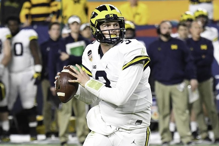 Jim Harbaugh condemns knockout hit on QB Wilton Speight as 'egregious'