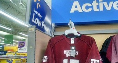 promo code 56034 997bc Photo: Walmart is selling Mississippi State jerseys with ...