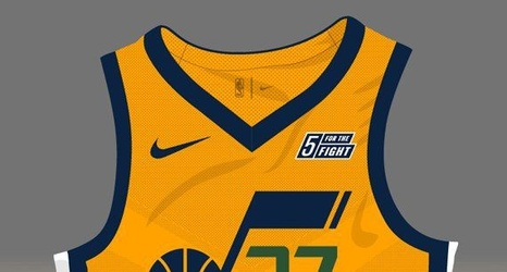 pretty nice 29a4e 41156 Utah Jazz Gold Uniform Estimation