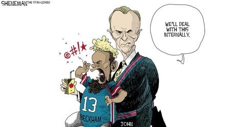 Little Giants Have Big Problems Sheneman Cartoon
