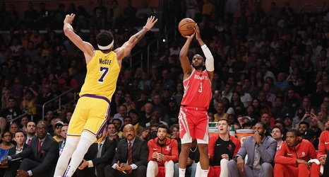 3378dbedb58 How the Houston Rockets spoiled LeBron s Lakers home debut