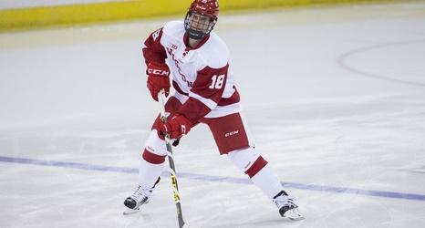 No 5 Wisconsin Mens Hockey Knocks Off St Lawrence