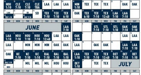 Mariners release 2019 schedule with home matchups against