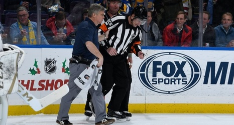 Wednesday S Hot Clicks Puck Bounces Off Referee S Crotch And Into