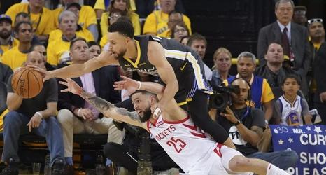 ed0c03a57c3b Warriors vs. Rockets Game 3  Will Houston miss 27 straight threes ...