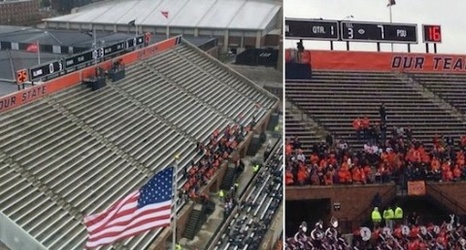 Illinois Football: Student Section Empty Before Kickoff ...