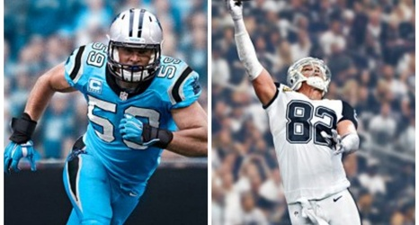 low priced 1e56f 4e92c Panthers and Cowboys Unveil 'Color Rush' Uniforms for ...