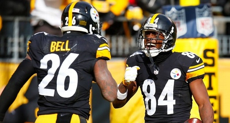 Image result for antonio brown leveon bell